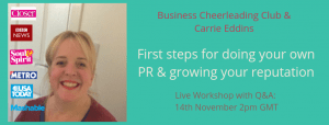 learn to do your own PR with PR expert Carrie Eddins
