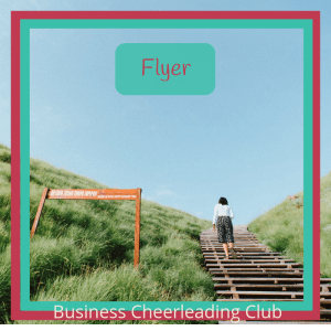 flyer membership business cheerleading club