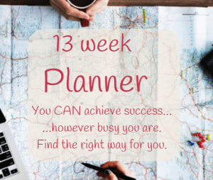 13 week productivity planner