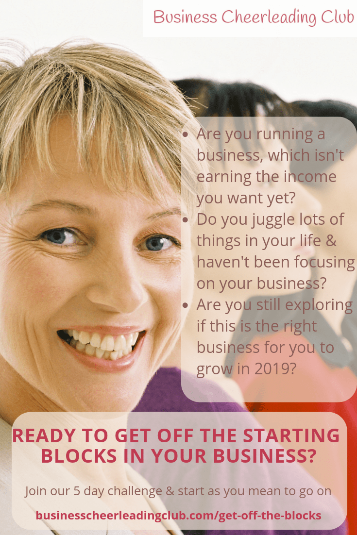 get off the starting blocks in your business
